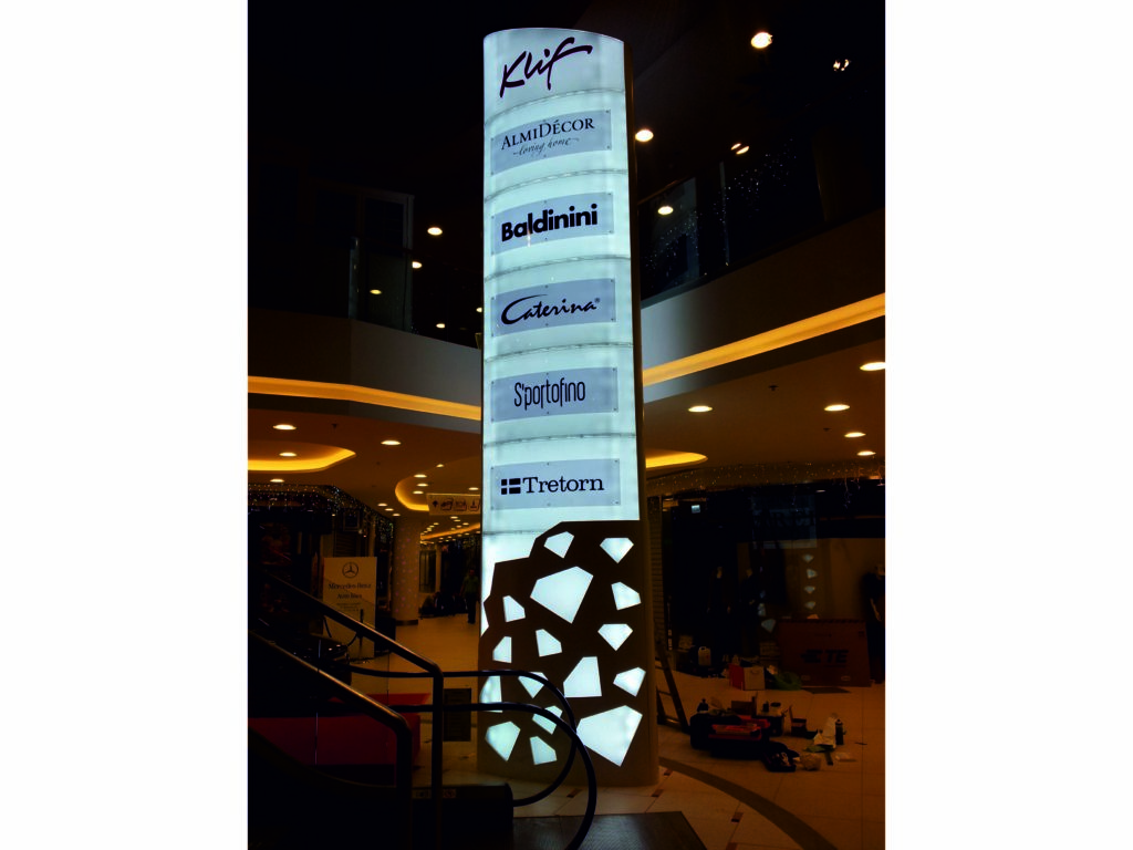 Pylons, advertising boards